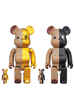 BE@RBRICK MIHARAYASUHIRO 100% & 400% GOLD×BROWN/BLACK×BROWN