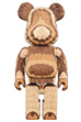BE@RBRICK カリモク fragmentdesign 400% carved wooden - LAYERED