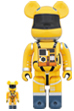 BE@RBRICK SPACE SUIT YELLOW Ver.100% & 400%