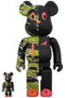 BE@RBRICK × atmos × STAPLE #2 100% & 400%