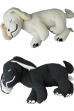 slumbers PLUSH WHITE/BLACK