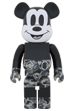 BE@RBRICK BAPE(R) MICKEY MOUSE MONOTONE Ver. 1000%