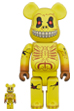 BE@RBRICK SKULL FACE 100% & 400%