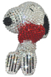 UDF CRYSTAL DECORATE SNOOPY SNOOPY w/HEART