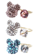 BE@BE@RBRICK CRYSTAL DECORATE RING(CRYSTAL/PINK/BLUE)RBRICK SWAROVSKI RING