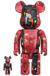 BE@RBRICK Andy Warhol × JEAN-MICHEL BASQUIAT #1 100% & 400%