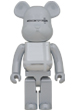 BE@RBRICK MEDICOM TOY PLUS WHITE CHROME Ver. 1000%
