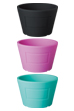 BOTANIZE POT BLACK/PINK/EMERALD GREEN