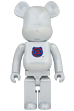 BE@RBRICK 1st MODEL WHITE CHROME 1000%