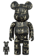 BE@RBRICK JEAN-MICHEL BASQUIAT #8 100% & 400%