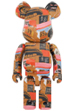 BE@RBRICK Andy Warhol × JEAN-MICHEL BASQUIAT #2 1000%