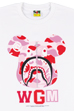 BE@RTEE BAPE(R)-ABC SHARK (WHITE×PINK)<br>