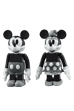 KUBRICK MICKEY MOUSE & MINNIE MOUSE (BLACK & WHITE ver.)